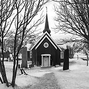 Flakstad Church (1780), Lofoten, Norway, Europe