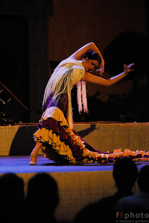 The cuban dancer Liliana Fagoaga during a performance in the First Dance Festival Ibérica Contemporánea, Querétaro, México, 2007