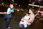 Hongdae. Kids with Snoopy.