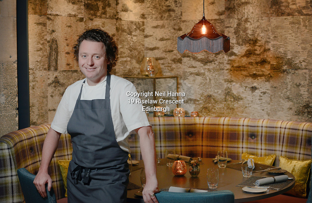 JP License<br /> <br /> <br /> One of the UK's leading restaurants has reopened its doors following a major refurbishment and expansion.  Celebrity Chef Tom Kitchin will prepare to welcome his first guests on Friday 23rd January, as he reveals the much anticipated developments at Michelin star restaurant The Kitchin, in Leith Edinburgh.<br /> <br /> <br /> <br /> Restaurant The Kitchin - led by Chef Tom Kitchin, his wife Michaela and their award-winning team - has become a firm favourite with locals, as well as visitors from across the world, since it opened in June 2006.  The doors will re-open this week, revealing an extended dining space, an exclusive private dining room, a distinctive whisky snug and a temperature controlled wine cellar, as well as an expanded kitchen and a new butchery area for Tom and his team of chefs. <br /> <br /> Tom standing in the Dining room <br /> <br />  Neil Hanna Photography<br /> www.neilhannaphotography.co.uk<br /> 07702 246823