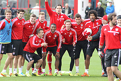 19.03.2014, Saebener Strasse, Muenchen, GER, 1. FBL, Training, FC Bayern Muenchen, im Bild Die Sieger sehen so aus // during a Trainingsession of German Bundesliga Club FC Bayern Munich at the Saebener Strasse in Muenchen, Germany on 2014/03/19. EXPA Pictures © 2014, PhotoCredit: EXPA/ Eibner-Pressefoto/ Ruiz<br /> <br /> *****ATTENTION - OUT of GER*****
