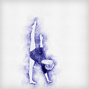 Digitally enhanced image of a Female Contemporary Dancer