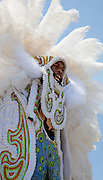 Mardi Gras Indians parade at the New Orleans Jazz & Heritage Festival