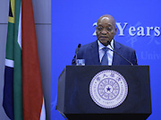 Jacob Zuma<br /> <br /> South Africa president Jacob Zuma makes a  speech at Tsinghua University in Beijing, China on 05th December, 2014.<br /> ©Exclusivepix Media