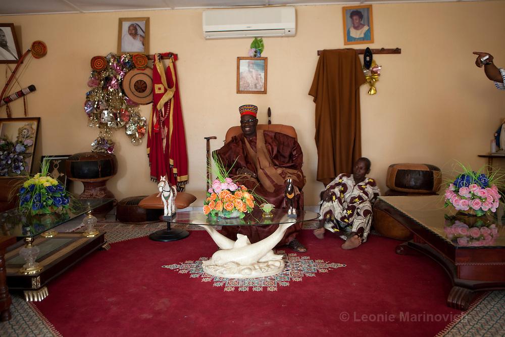 22 June 2010. Chief of Saolog, Burkina Faso. Omar Naba Boulga Salogo, in his reception hall.