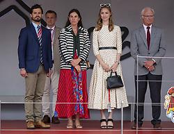 King Carl XVI Gustaf of Sweden and his son Prince Carl Philip, Beatrice Borromeo, Tatiana Santo Domingo pose in the royal tribune at the 77th Monaco Grand Prix, Monaco on May 26th, 2019. Photo by Marco Piovanotto/ABACAPRESS.COM