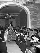 Sybil Connolly Fashion Show at New Premises at Merrion Square, Dublin, Ireland. 17/01/1958
