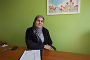 Madame Shoubassi, principal at Taalabaya School, Zahle, in Lebanon's Bekaa Valley. Her school now has over 500 Syrian refugee students, in addition to its core intake of 350 local Lebanese children.<br /> <br /> &quot;Children are like plants&quot;, she says. &quot;They will grow pretty much anywhere, but they need care, attention and the right conditions if they are to flourish and flower properly.&quot;<br /> <br /> Picture: Russell Watkins/DFID