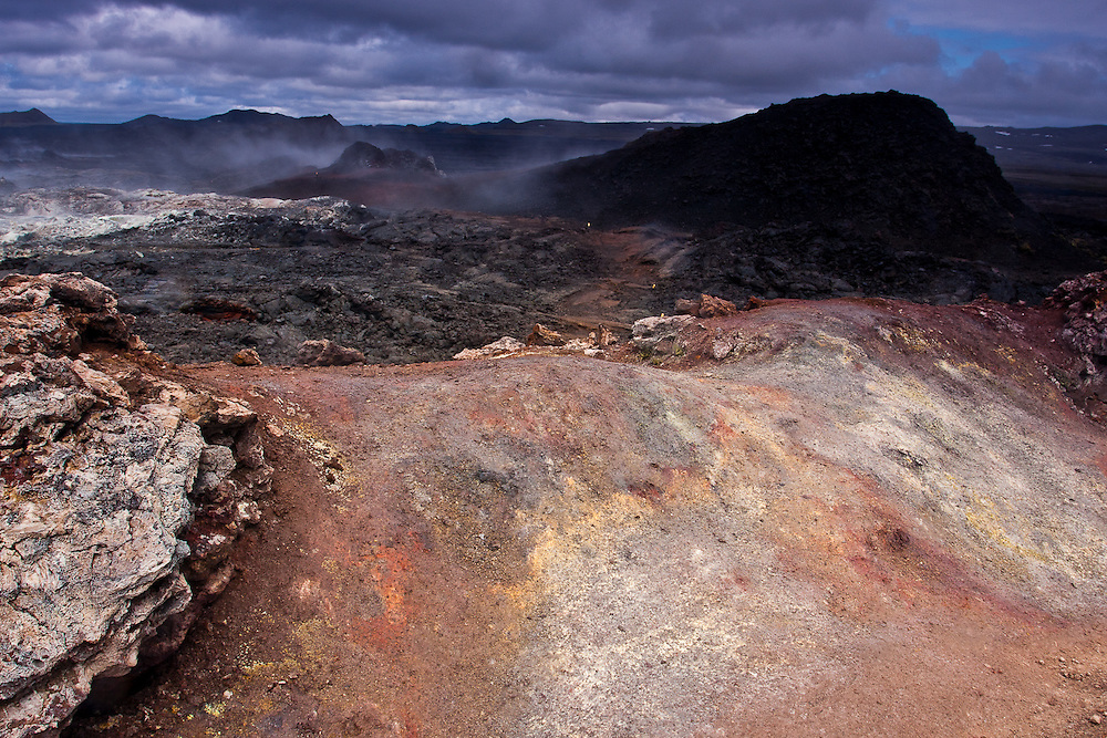 Walking through the trail in the volcanic area of Krafla is almost like walking on a different planet.