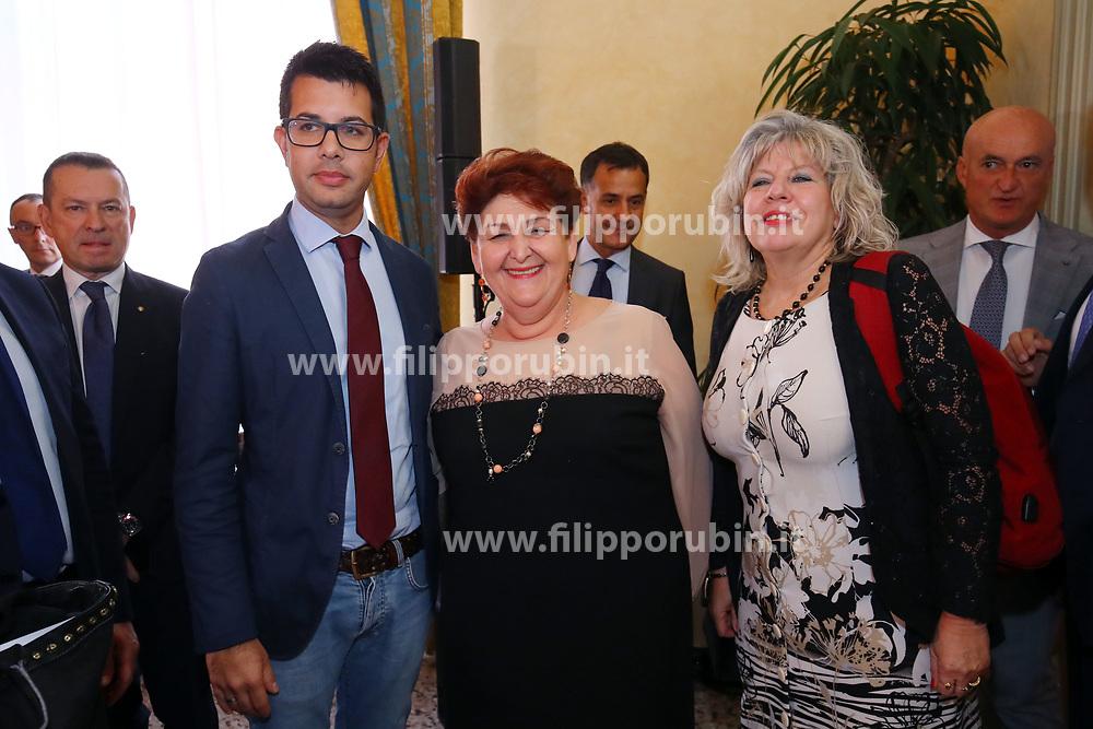 DA SX MICHELE CAMPANARO STEFANO CALDERONI TERESA BELLANOVA E SIMONA CASELLI<br /> MINISTRO TERESA BELLANOVA IN PREFETTURA A FERRARA