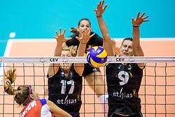 22-08-2017 NED: World Qualifications Belgium - Czech Republic, Rotterdam<br /> Ilka van de Vyver #17 of Belgium, Freya Aelbrecht #9 of Belgium