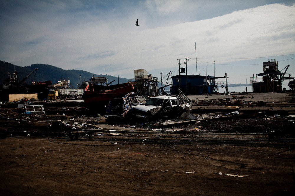 Destruction by the tsunami in Talcahuano, Chile, March 5, 2010.