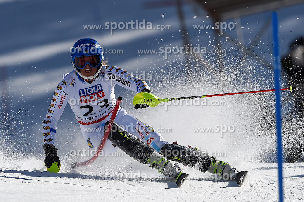 14.02.2015, Birds of Prey, Beaver Creek, USA, FIS Weltmeisterschaften Ski Alpin, Vail Beaver Creek 2015, Damen, Slalom, 2. Durchgang, im Bild Sara Hector (SWE) // Sara Hector of Sweden in action during 2nd run of the ladie's Slalom of FIS Ski World Championships 2015 at the Birds of Prey in Beaver Creek, United States on 2015/02/14. EXPA Pictures © 2015, PhotoCredit: EXPA/ Jonas Ericson