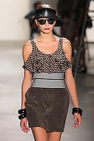 NEW YORK - SEPTEMBER 10:  Melodie Dagault walks the runway wearing Vena Cava Spring 2010 during Mercedes-Benz Fashion Week at Milk Studios on September 10, 2009 in New York City