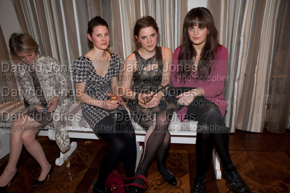 EBBA HEUMAN; BEATA HEUMAN; MOLLY MILLER-MUNDY, Book launch party for the paperback of Nicky Haslam's book 'Sheer Opulence', at The Westbury Hotel. London. 21 April 2010