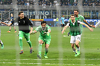 Esultanza Gianluigi Buffon Juventus Celebration <br /> Milano 28-04-2018 Stadio Giuseppe Meazza in San Siro Football Calcio Serie A 2017/2018 Inter - Juventus Foto Andrea Staccioli / Insidefoto
