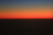 From 30,000 feet the Simpson Desert is incredible at Sunset