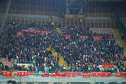 NAPLES, ITALY - Wednesday, October 3, 2018: Liverpool supporters during the UEFA Champions League Group C match between S.S.C. Napoli and Liverpool FC at Stadio San Paolo. (Pic by David Rawcliffe/Propaganda)