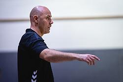 Erlingur Richardsson head coach of Nederland national team during friendly handball match between Slovenia and Nederland, on October 25, 2019 in Športna dvorana Hardek, Ormož, Slovenia. Photo by Blaž Weindorfer / Sportida