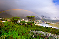 A rainbow over Camp's Bay (near Cape Town), South Africa