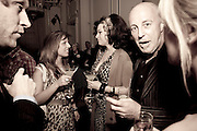 victoria anne bull; IMMODESY BLAIZE;  ANDREW SUTTON;, Launch of Stephanie Theobald's book' A Partial Indulgence'  drinks provided by Ruinart champage nd Snow Queen vodka. The Artesian at the Langham, 1c Portland Place, Regent Street, London W1 *** Local Caption *** -DO NOT ARCHIVE-© Copyright Photograph by Dafydd Jones. 248 Clapham Rd. London SW9 0PZ. Tel 0207 820 0771. www.dafjones.com.<br />