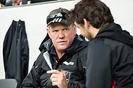AMSTELVEEN - coach Graham Reid (A'dam) met rechts assistent-coach Joost Bitterling (A'dam)   tijdens Amsterdam-Tilburg, competitie Hoofdklasse hockey heren   (2017-2018) .  COPYRIGHT KOEN SUYK
