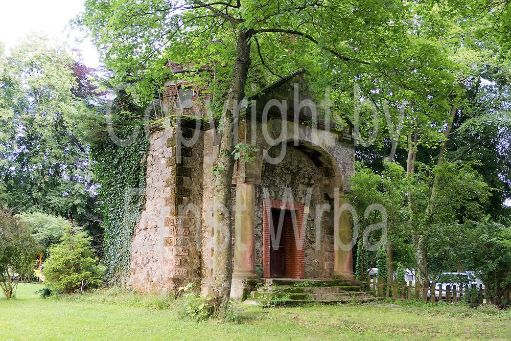 Ruine Mausoleum Bad Grund, Harz, Niedersachsen, Deutschland   ruin of mausoleum, Bad Grund, Harz, Lower Saxony, Germany