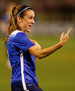 CHATTANOOGA, TN - AUGUST 19:  Midfielder Heather O'Reilly #9 of the United States celebrates during the friendly match against Costa Rica at Finley Stadium on August 19, 2015 in Chattanooga, Tennessee.  (Photo by Mike Zarrilli/Getty Images)