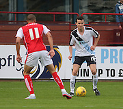 Dundee's Paul McGinn and Rotherham United's Jordan Bowry - Dundee v Rotherham United - pre-season friendly at Dens Park <br /> <br />  - &copy; David Young - www.davidyoungphoto.co.uk - email: davidyoungphoto@gmail.com