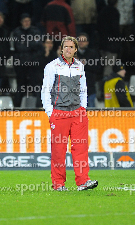10.11.2013, Mage Solar Stadion, Freiburg, GER, 1. FBL, SC Freiburg vs VfB Stuttgart, 12. Runde, im Bild Thomas Schneider (Chef-Trainer VfB Stuttgart) // during the German Bundesliga 12th round match between SC Freiburg and VfB Stuttgart at the Mage Solar Stadion, Freiburg, Germany on 2013/11/10. EXPA Pictures &copy; 2013, PhotoCredit: EXPA/ Eibner-Pressefoto/ Laegler<br /> <br /> *****ATTENTION - OUT of GER*****