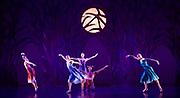 The Birmingham Royal Ballet <br /> Three Short Story Ballets (mixed Bill) <br /> at Birmingham Hippodrome, Birmingham, Great Britain <br /> Rehearsal 21st June 2017 <br /> <br /> <br /> Arcadia <br /> (word Premier)<br /> Choreography by Ruth Brill<br /> Music:John HarleDesigns:Atena AmeriLighting:Peter Teigen<br /> <br /> CastPan: Tyrone Singleton <br /> Pitys: Brooke Ray<br /> Syrinx: Yaoqian ShangEcho: Daria Stanciulescu<br /> Selene: <br /> Delia Mathews<br /> <br /> <br /> Photograph by Elliott Franks <br /> Image licensed to Elliott Franks Photography Services