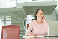 Mid-adult office worker in office