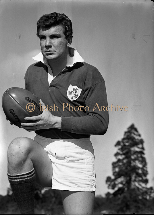 Tony O'Reilly - Old Belvedere and Irish International Rugby Football Player. 06/10/1958.
