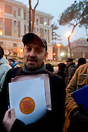 Roma, 11 Gennaio 2013.In fila per depositare i simboli dei partiti al ministero dell'Interno  in vista del voto..La lista del Movimento  Poeti D'Azione..