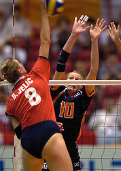 21-06-2000 JAP: OKT Volleybal 2000, Tokyo<br /> Nederland - Croatie 2-3 / Henriette Weersing, Barbara Jelic