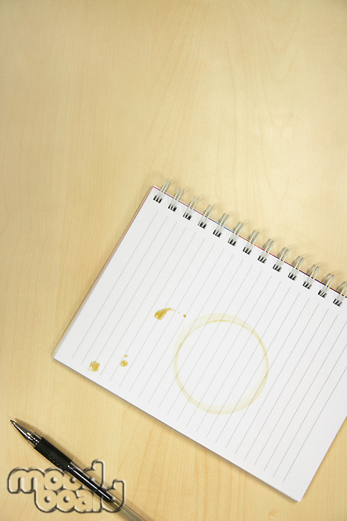 Coffee Ring on Notebook