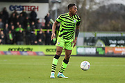 Forest Green Rovers Ebou Adams(14) on the ball during the EFL Sky Bet League 2 match between Forest Green Rovers and Scunthorpe United at the New Lawn, Forest Green, United Kingdom on 7 December 2019.