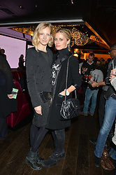 Left to right, SAVANNAH MILLER and LAURA BAILEY at a party to celebrate the Astley Clarke & Theirworld Charitable Partnership held at Mondrian London, Upper Ground, London on 10th March 2015.