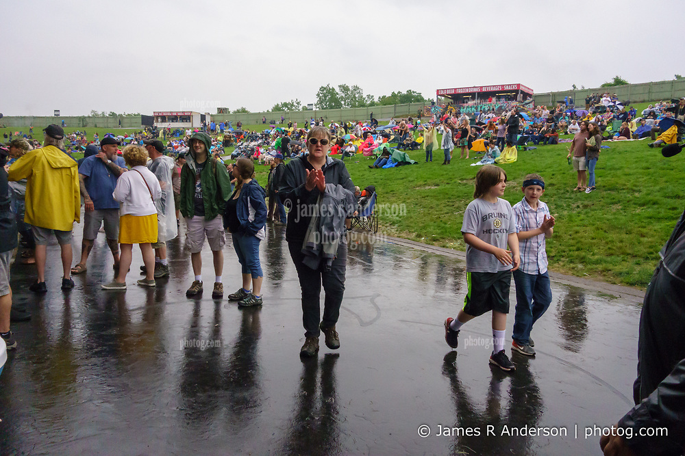 The very wet Lawn at the Outlaw Music Festival 16 June 2019