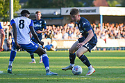 Leeds United forward Jack Clarke (11) in action during the Pre-Season Friendly match between Guiseley  and Leeds United at Nethermoor Park, Guiseley, United Kingdom on 11 July 2019.