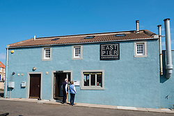 East Pier Smokehouse cafe and restaurant in St Monans village in East Neuk, Fife, Scotland, United Kingdom,
