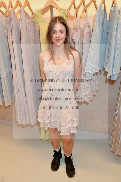 ISOBEL SALTER at a party to celebrate the re-launch of the Ghost Flagship store at 120 King's Road, London on 15th April 2015.