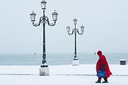 Venice - The snowfall in lagoon