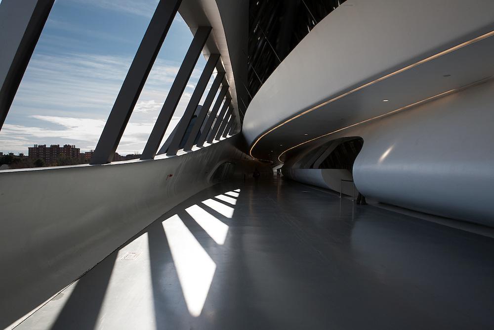 Zaragoza, Spain, January 2010. Zaragoza Bridge di Zaha Hadid Architects.