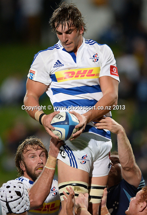 Eben Etzebeth. Blues v Stormers. Investec Super Rugby Season. North Harbour Stadium, Albany, Auckland, New Zealand. Friday 3 May 2013. Photo: Andrew Cornaga/Photosport.co.nz