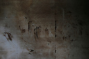 JINGZHOU, CHINA - JUNE 07: (CHINA OUT)<br /> <br /> Interior View Of Capsized Eastern Star <br /> <br /> Handprints of rescuers is seen in the capsized Eastern Star on June 7, 2015 in Jingzhou, Hubei Province of China. A passenger ship named Dongfangzhixing (Eastern Star) carrying over 400 people, including 406 Chinese passengers, 5 travel agency workers and 47 crew members aboard, according to the administration, sank at around 9:28 p.m. on Monday in the Jianli (Hubei Province) section of the Yangtze River. The death toll of the capsized cruise Eastern Star reached 432 on Sunday, leaving 10 still missing and 14 survived. Further rescue work continues in the accident site.<br /> ©Exclusivepix Media