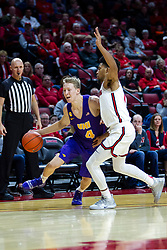 NORMAL, IL - December 31: AJ Green defended by Zach Copeland and watched by Bret Smith during a college basketball game between the ISU Redbirds and the University of Northern Iowa Panthers on December 31 2019 at Redbird Arena in Normal, IL. (Photo by Alan Look)