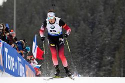 Lars Helge Birkeland (NOR) in action during the Pursuit Men 12,5 km at day 8 of IBU Biathlon World Cup 2018/19 Pokljuka, on December 9, 2018 in Rudno polje, Pokljuka, Pokljuka, Slovenia. Photo by Urban Urbanc / Sportida