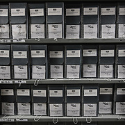 BOWIE, MD - MAY3: The documents vault at the U.S. Holocaust Memorial Museum's David and Fela Shapell Family Collections, Conservation and Research Center in Bowie, MD, May 3, 2017. The 80,000-square-foot Shapell Center is a state-of-the-art facility that will house the collection of record of the Holocaust, including historical artifacts, documents, photographs, film and other objects related to the Holocaust. (Photo by Evelyn Hockstein/For The Washington Post)