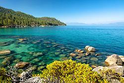 """Boulders at Lake Tahoe 53"" - Photograph of boulders along the shoreline of Lake Tahoe's east shore, a bit south of Secret Cove."